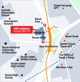 ARA Industry Busan head office address